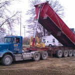Site development-excavation-grading-trucking-compaction