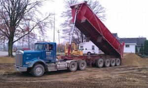 Site development-excavation-grading-trucking-compaction