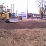 Excavating-grading-driveway-parking lot-sitework