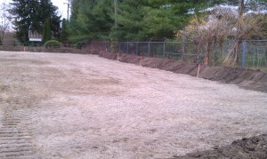Excavating-grading-site development-parking lot-
