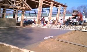 Concrete-equipment-construction-pole barn