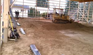 Excavating-concrete-grading-pole barn