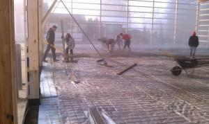 Concrete-flatwork-construction-pole barn