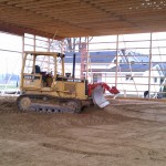 Grading-excavation-concrete-pole barn