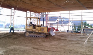 Grading-excavation-concrete-pole barn