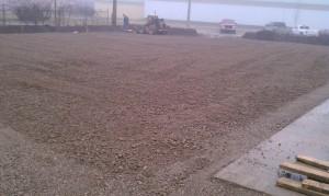 Grading-excavation-parking lot