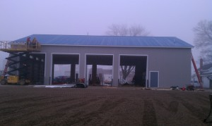 Grading-pole barn-parking lot