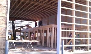 Pole barn-metal building-office