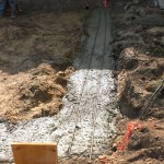 Concrete-poured-trench-foundation
