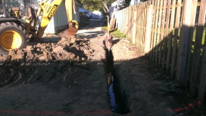 Excavation, trenching, foundation, concrete