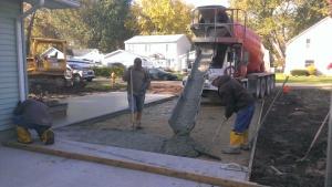Building contractor, excavating, concrete